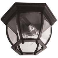 Bent Glass 3 Light 11 inch Matte Black Outdoor Flushmount