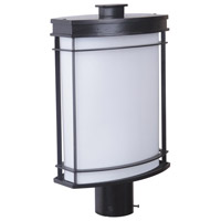 Vale II 1 Light 18 inch Oiled Bronze Outdoor Post Mount in White Opal