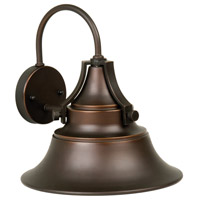 Union 1 Light 13 inch Oiled Bronze Gilded Outdoor Wall Mount