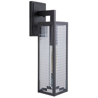 Craftmade Z4524-MN-SC Deka 1 Light 20 inch Brushed Aluminum Outdoor Wall Mount in Midnight Large