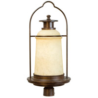 Portofino 1 Light 28 inch Aged Bronze Post Mount in Antique Scavo Glass