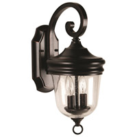 Craftmade Z4904-OBG Fredericksburg 2 Light 18 inch Oiled Bronze Gilded Outdoor Wall Lantern, Small