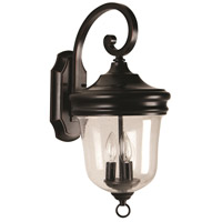Exteriors by Craftmade Fredericksburg 3 Light Outdoor Wall Mount in Oiled Bronze Gilded Z4914-88