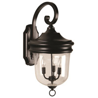 Craftmade Z4924-OBG Fredericksburg 3 Light 26 inch Oiled Bronze Gilded Outdoor Wall Lantern, Large