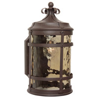 Espana 1 Light 14 inch Rustic Iron Outdoor Wall Lantern, Small