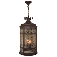Espana 4 Light 12 inch Rustic Iron Outdoor Pendant in Champagne Hammered