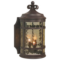 Espana 2 Light 18 inch Rustic Iron Outdoor Wall Lantern, Medium