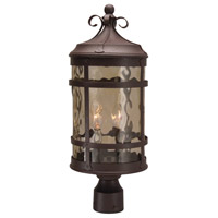 Espana 2 Light 21 inch Rustic Iron Outdoor Post Mount in Champagne Hammered