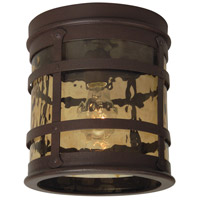 Espana 1 Light 8 inch Rustic Iron Outdoor Flushmount, Small