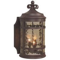 Exteriors by Craftmade Espana 4 Light Outdoor Wall Mount in Rustic Iron Z5024-91