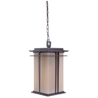 Winslow 1 Light 9 inch Oiled Bronze Outdoor Pendant in Amber Frost Glass