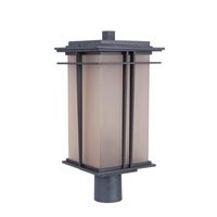 Craftmade Z5225-92 Winslow 1 Light 16 inch Oiled Bronze Outdoor Post Mount in Amber Frost Glass