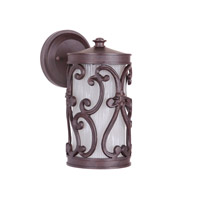 Glendale 1 Light 11 inch Aged Bronze Outdoor Wall Mount in Medium