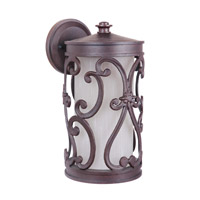 Glendale 1 Light 13 inch Aged Bronze Outdoor Wall Mount in Medium