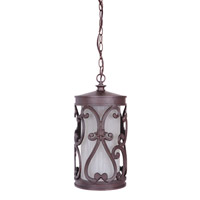 Glendale 1 Light 8 inch Aged Bronze Outdoor Pendant in Medium