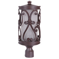 Exteriors by Craftmade Glendale 3 Light Post Mount in Aged Bronze Z5325-98