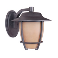 Morrow Bay 1 Light 14 inch Espresso Outdoor Wall Mount in Amber Scavo