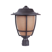 Exteriors by Craftmade Morrow Bay 1 Light Post Mount in Espresso Z5625-35