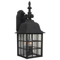 Exteriors by Craftmade Grid Cage 3 Light Outdoor Wall Mount in Matte Black Z570-05