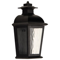 Branbury 1 Light 14 inch Oiled Bronze Outdoor Wall Pocket in Medium