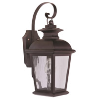 Exteriors by Craftmade Branbury 1 Light Outdoor Wall Mount in Oiled Bronze Z5704-92