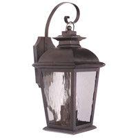 Exteriors by Craftmade Branbury 3 Light Outdoor Wall Mount in Oiled Bronze Z5714-92