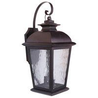 Craftmade Z5724-OBO Branbury 3 Light 25 inch Oiled Bronze Outdoor Wall Lantern, Large