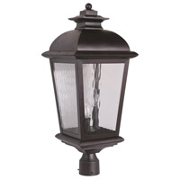 Craftmade Z5725-OBO Branbury 3 Light 25 inch Oiled Bronze Outdoor Post Light, Large