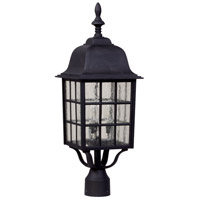 Craftmade Z575-TB Grid Cage 3 Light 24 inch Textured Matte Black Outdoor Post Light, Large