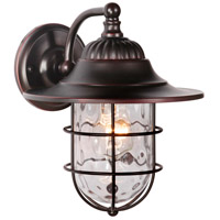 Craftmade Z5804-OBG Fairmont 1 Light 11 inch Oiled Bronze Gilded Outdoor Wall Lantern, Small