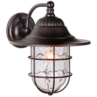 Fairmont 1 Light 14 inch Oiled Bronze Gilded Outdoor Wall Mount Lantern in Clear Hammered