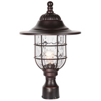 Craftmade Z5825-88 Fairmont 1 Light 18 inch Oiled Bronze Gilded Outdoor Post Mount in Clear Hammered