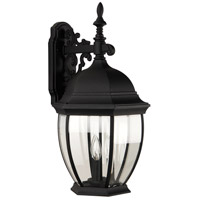 Exteriors by Craftmade Bent Glass 3 Light Outdoor Wall Mount in Matte Black Z584-05