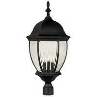 Craftmade Z585-TB Bent Glass 3 Light 26 inch Textured Matte Black Outdoor Post Light Large