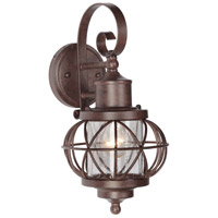 Revere 1 Light 14 inch Aged Bronze Outdoor Wall Mount Lantern in Clear Seeded