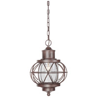 Revere 1 Light 11 inch Aged Bronze Outdoor Pendant in Clear Seeded