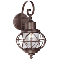 Revere 1 Light 21 inch Aged Bronze Outdoor Wall Mount Lantern in Clear Seeded