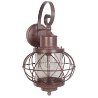 Revere 1 Light 23 inch Aged Bronze Outdoor Wall Mount in Clear Seeded