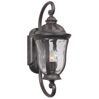 Frances 1 Light 19 inch Oiled Bronze Outdoor Wall Mount in Clear Hammered