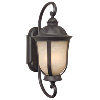 Frances II ES 1 Light 23 inch Oiled Bronze Outdoor Wall Mount in GU24, Medium