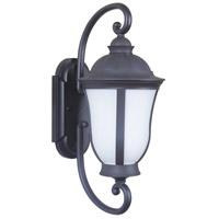 Frances III 1 Light 19 inch Oiled Bronze Outdoor Wall Mount in White Opal