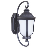 Frances III 1 Light 23 inch Oiled Bronze Outdoor Wall Mount in White Opal