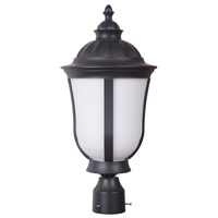 Frances III 1 Light 20 inch Oiled Bronze Outdoor Post Mount in White Opal