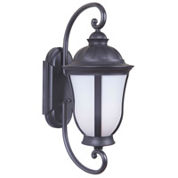 Frances III 1 Light 29 inch Oiled Bronze Outdoor Wall Mount in White Opal