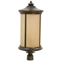 Arden 1 Light 28 inch Oiled Bronze Gilded Outdoor Post Mount in Tea-Stained Glass, Large