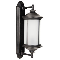Arden II 1 Light 24 inch Oiled Bronze Gilded Outdoor Wall Mount in White Frosted Glass