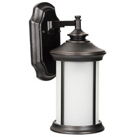 Arden II 1 Light 15 inch Oiled Bronze Gilded Outdoor Wall Mount in White Frosted Glass