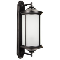 Arden II 1 Light 32 inch Oiled Bronze Gilded Outdoor Wall Mount in White Frosted Glass