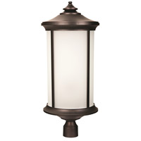 Arden II 1 Light 28 inch Oiled Bronze Gilded Post Mount in White Frosted Glass