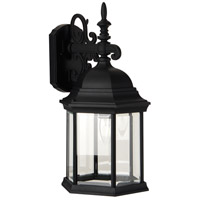 Craftmade Z694-TB Hex Style 1 Light 18 inch Textured Matte Black Outdoor Wall Lantern in Clear Beveled Large